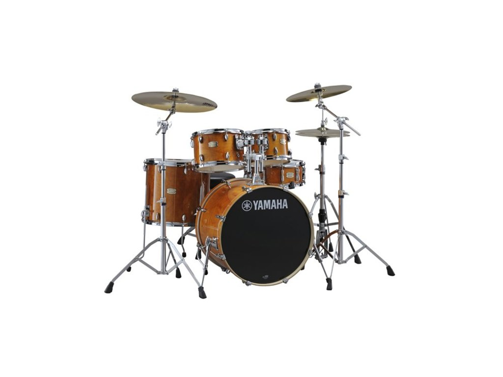 "Drumstel Yamaha Stage Custom Birch SBP0F5HA7 Honey Amber, 20"", 10"", 12"", 14"", 14"", HW780"