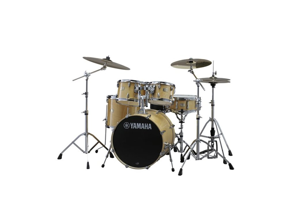 "Drumstel Yamaha Stage Custom Birch SBP2F5NW7 Natural Wood, 22"", 10"", 12"", 16"", 14"", HW780"