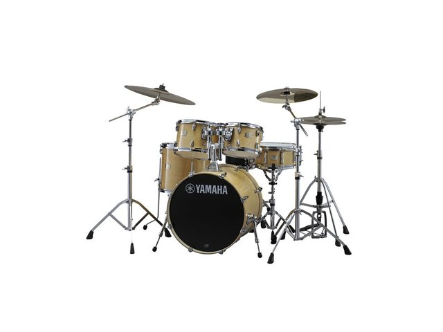 "Drumset Yamaha Stage Custom Birch SBP0F5NW7 Natural Wood, 20"", 10"", 12"", 14"", 14"", HW780"