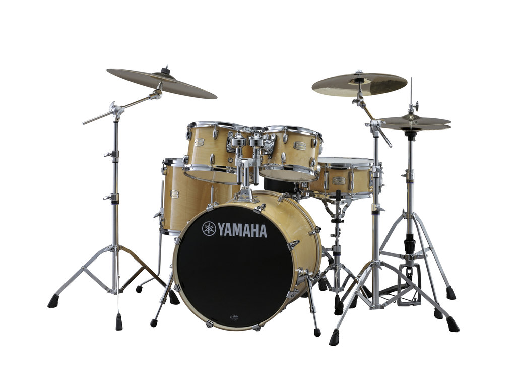 "Drumstel Yamaha Stage Custom Birch SBP2F5NW6W Natural Wood, 22"", 10"", 12"", 16"", 14"" Inclusief hardware"