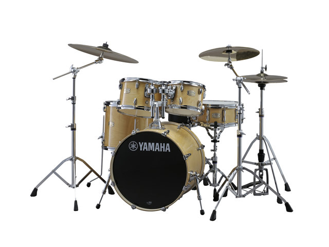 "Drumset Yamaha Stage Custom Birch SBP2F5NW6W Natural Wood, 22"", 10"", 12"", 16"", 14"" including hardware"