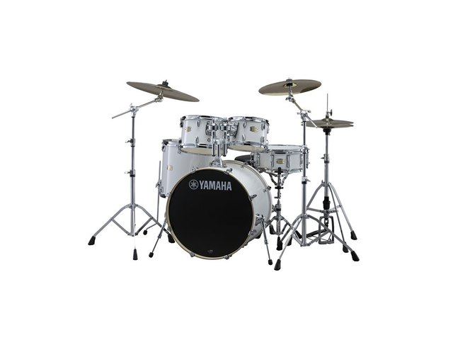 "Drumset Yamaha Stage Custom Birch SBP0F5PWH7 Pure White, 20"", 10"", 12"", 14"", 14"", HW780"