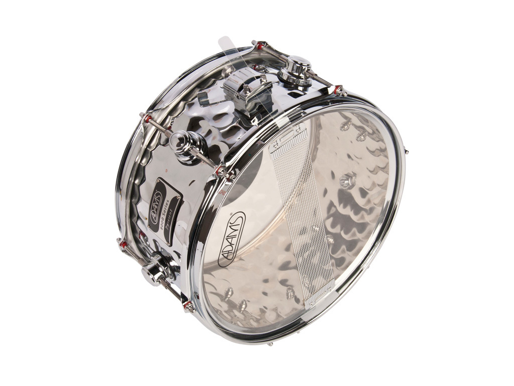 "Snare Drum Adams 8000, 12"" x 6"", 2.3mm steel hoops 12Lugs, Steal Hammered Chrome plating"