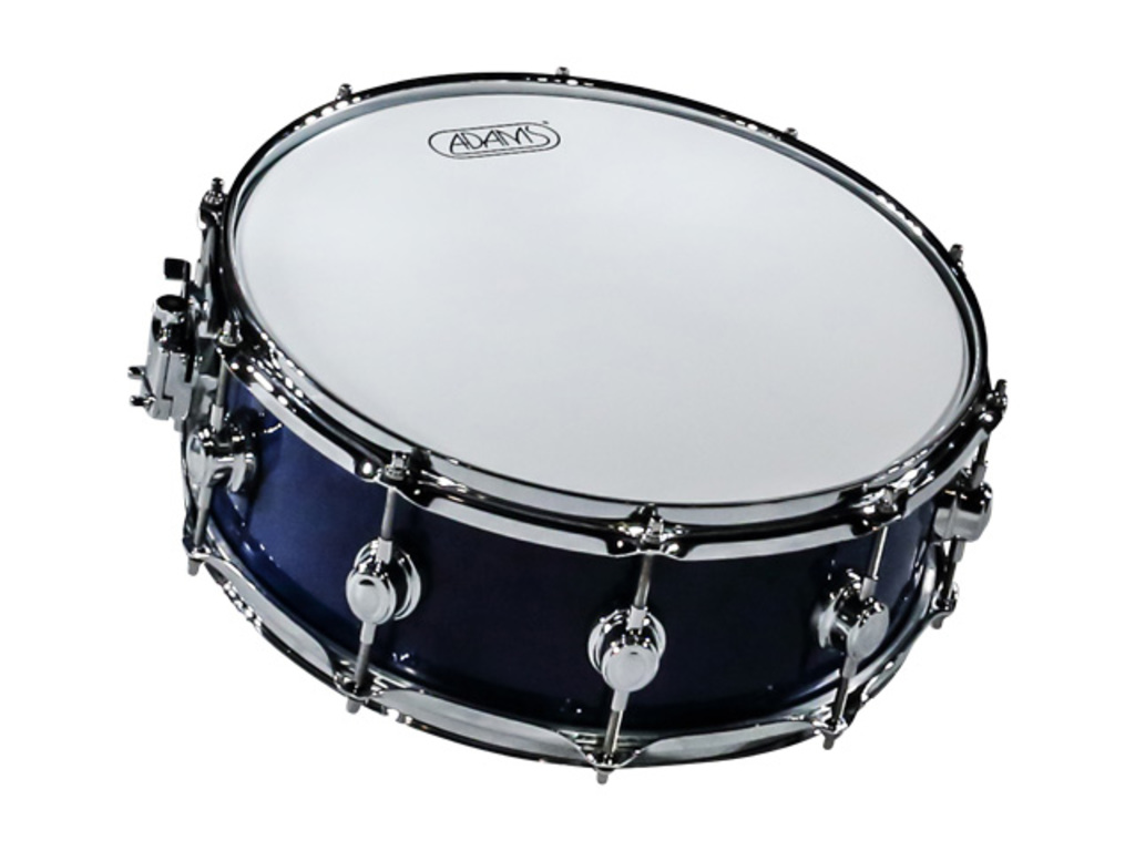 Snare Adams 6000 Essential Serie 14x55 Snaredrum plywood/berken Chrome hardware  Dark Blue