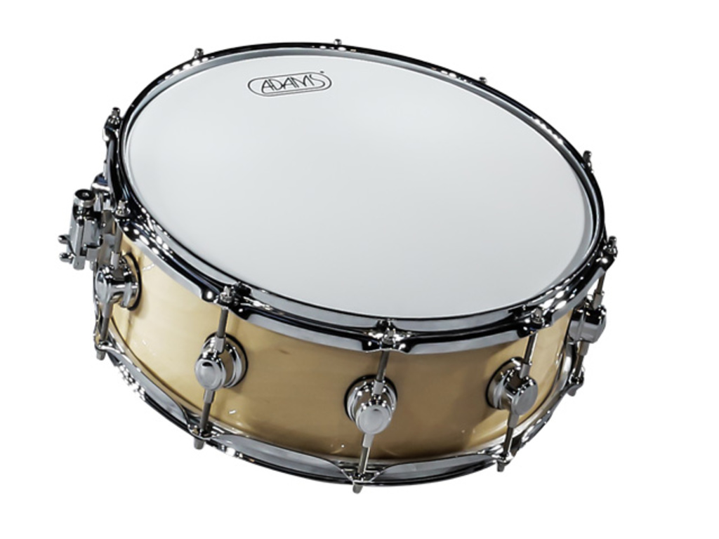 Snare Adams 6000 Essential Serie 14x55 Snaredrum plywood/berken Chrome hardware  Naturel