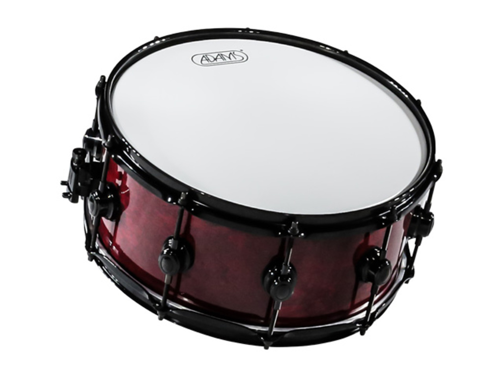Snare Adams 6000 Essential Serie 14x65 Snaredrum plywood/berken Black hardware  Dark Red