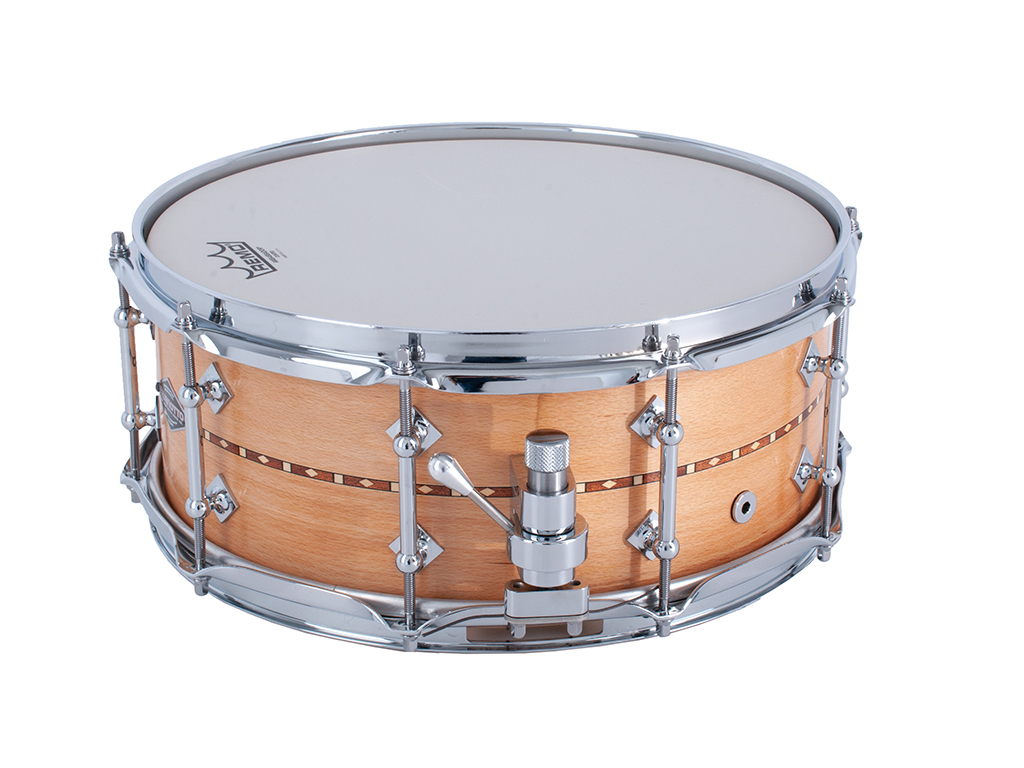 "Snaredrum Craviotto Solid Shell beech snare drum 5.5x14"", 45"" edges"