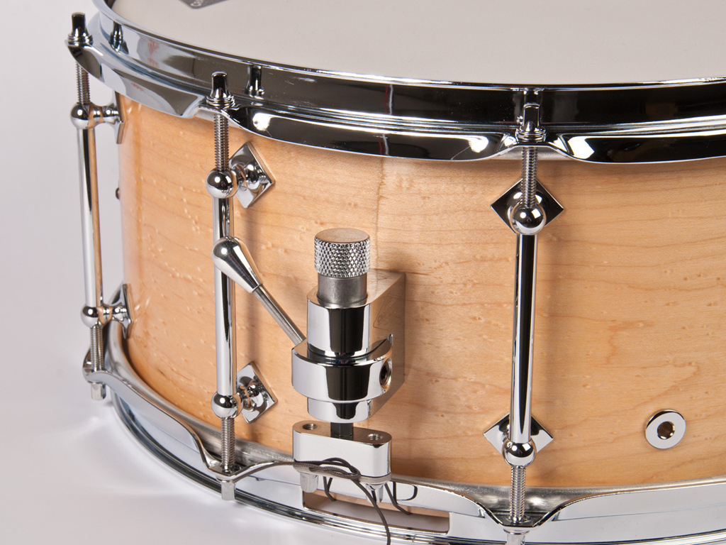 "Snaredrum Craviotto solid shell maple snare drum 14"" x 6.5"", 45"" edges light birdseye"