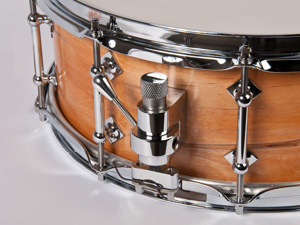 "Snaredrum Craviotto solid shell maple snare drum 14"" x 5.5"", 45"" edges wormholes"