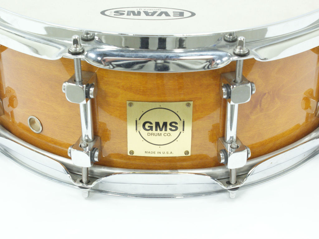 "Snaredrum GMS, Maple shell, Honey Maple 14"" x 5.5"""