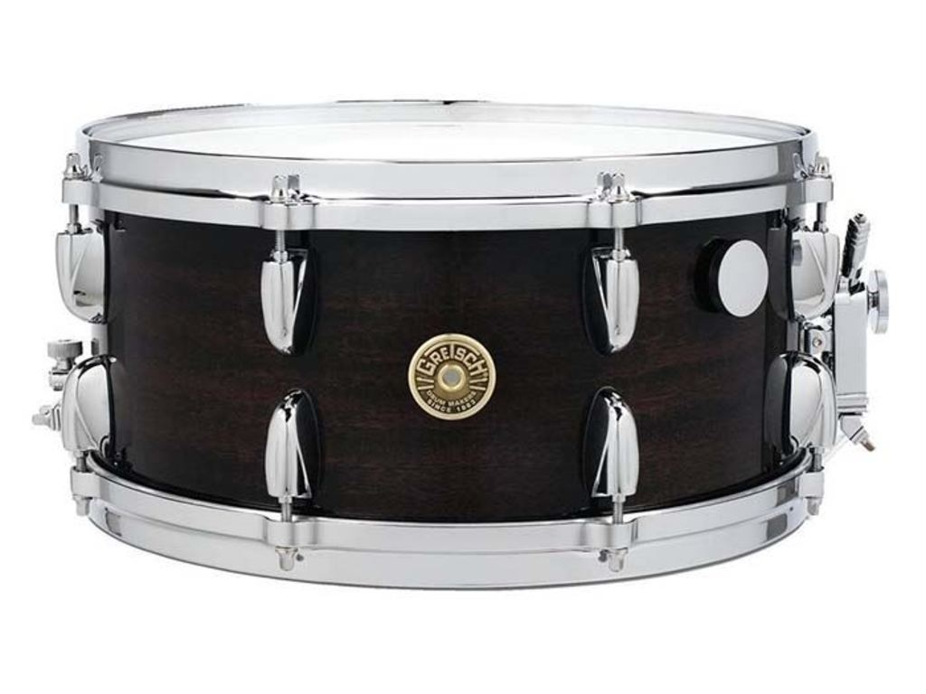 "Snaredrum Gretsch G5-6514-ERM, USA Custom Ebony Ribbon Mahogany, Maple-striped mahogany vineer, 14"" x 6,5"""
