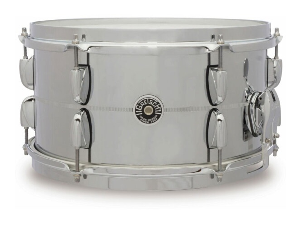 "Snaredrum Gretsch GB4163S, USA Brooklyn Series, Steel, Chrome over steel 13"" x 7"""
