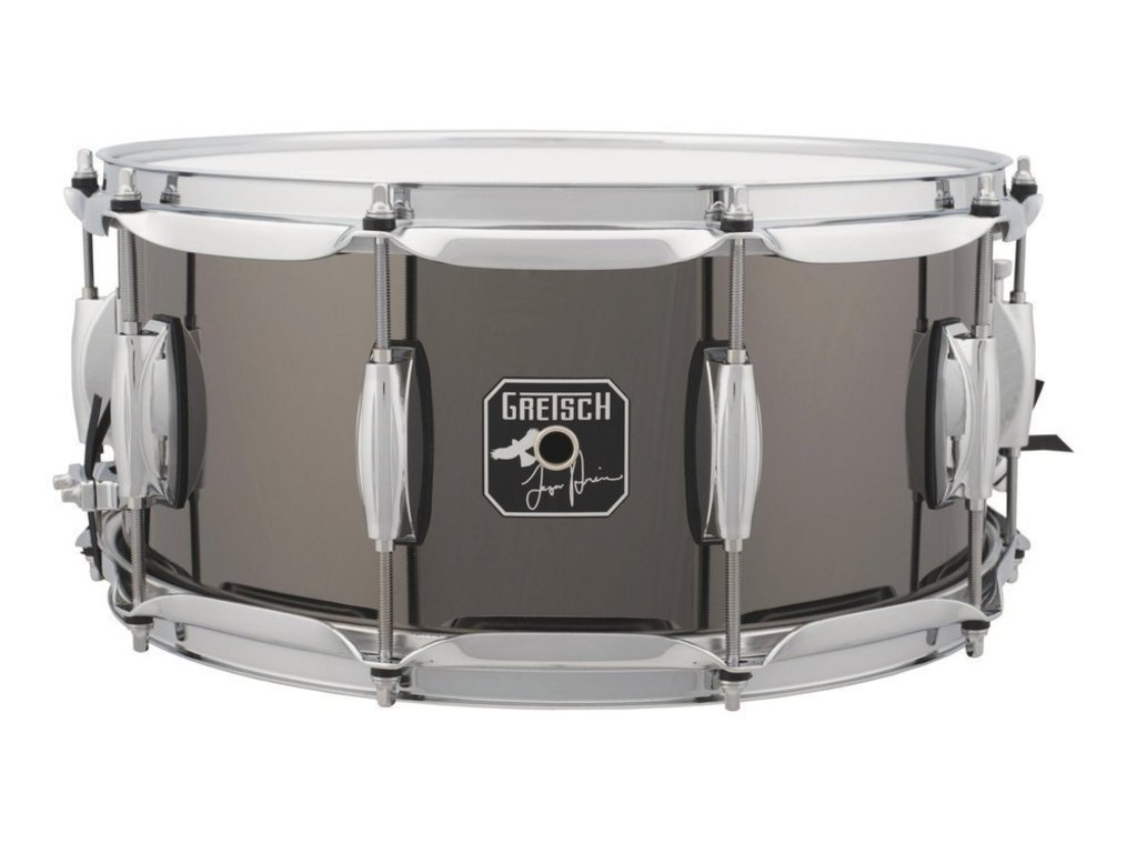 "Snare Drum Gretsch S-6514-TH, Taylor Hawkins, Signature, 14"" x 6.5"", Black nickel, steel shell"
