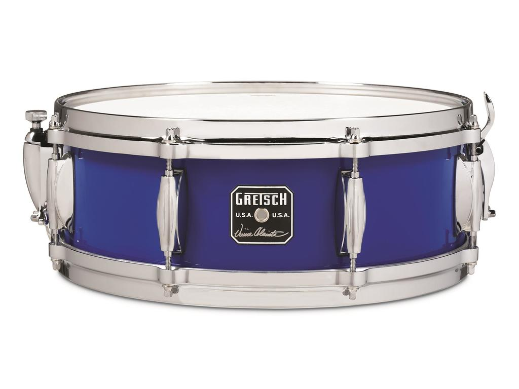 "Snaredrum Gretsch GAS-0514-VC, Vinnie Colaiuta Signature, Maple, Cobalt Blue Gloss, 14"" x 5"""