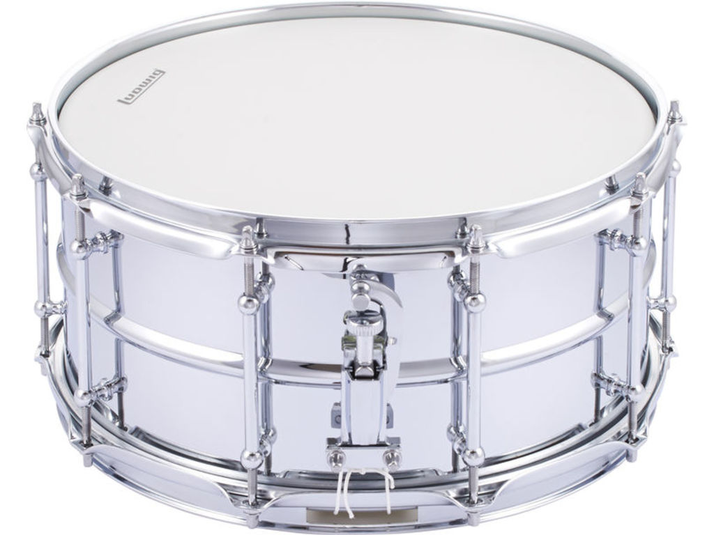 "Snare Drum Ludwig LW6514SL, Supralite, Polished Steel, 14"" x 6,5"""