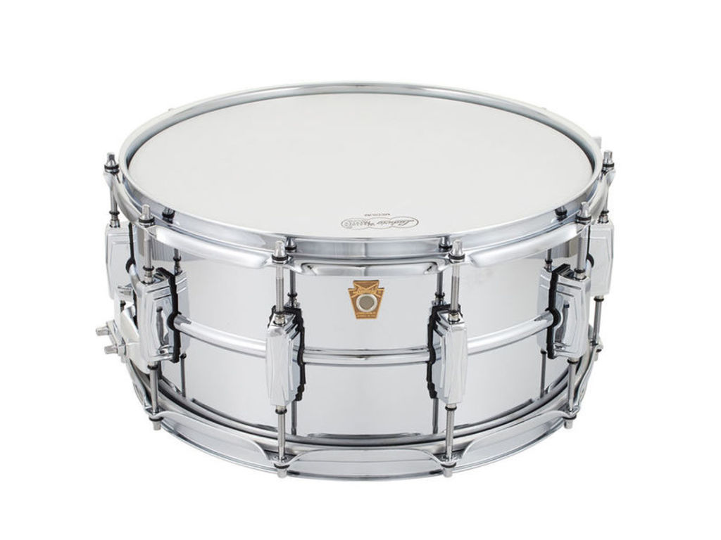 "Snare Drum Ludwig LB402B, Supra Phonic, chrome about brass snare, imperial lugs, 14"" x 6.5"""