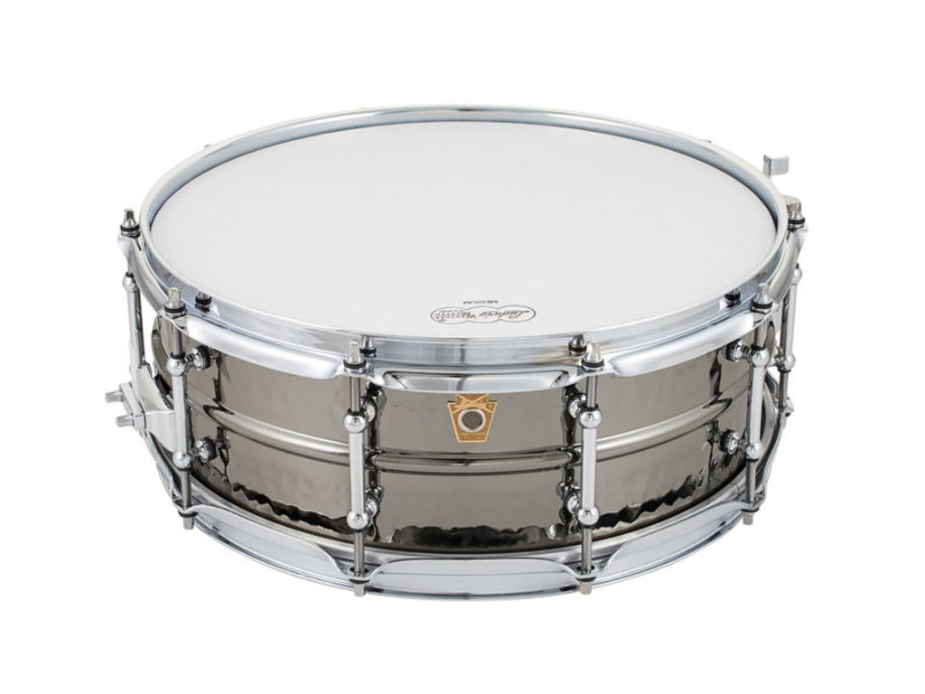 "Snaredrum Ludwig LB416KT, Black Beauty, 14"" x 5"" brass shell, supra-phonic snare"