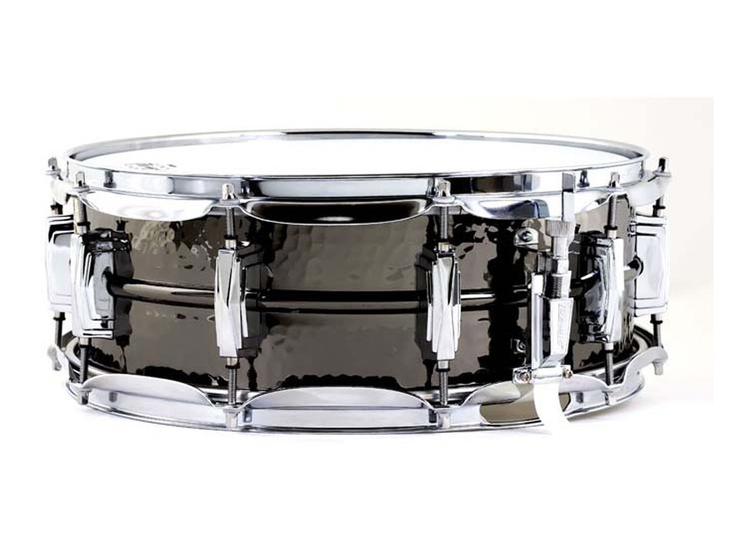 "Snaredrum Ludwig LB416K, Black Beauty, 14"" x 5"" brass shell, supra-phonic snare, imperial lugs"