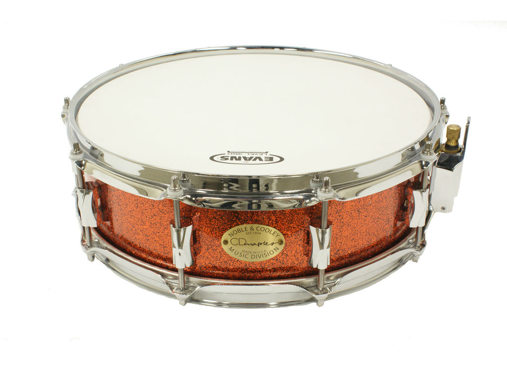 "Snaredrum Noble&Cooley, CD Snare 14"" x 4.5"" Coppersparkle /Flanged Hoop"