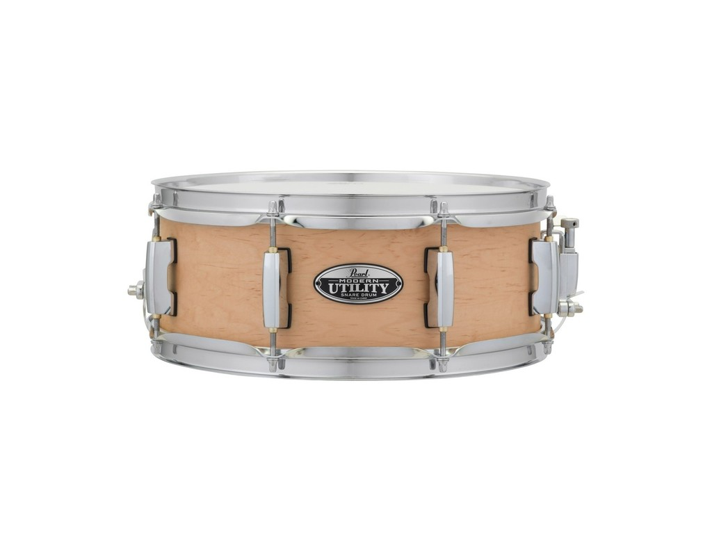 "Snaredrum Pearl MUS1350M/C224, 6 ply maple shell Modern Utility Snare Drum 13""x5"" #224 Matte Natural"
