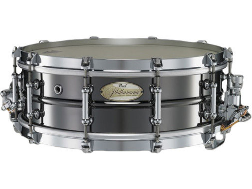 "Snaredrum Pearl PHB1450, 14"" x 5"" Philharmonic SD, beaded brass shell met Triad Silent Strainer"