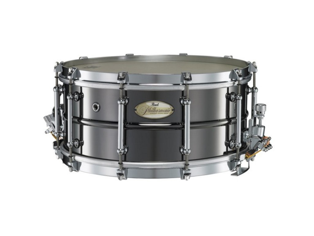 "Snaredrum Pearl PHB1465, 14"" x 6.5"", Philharmonic SD, beaded brass shell met Triad Silent Strainer"
