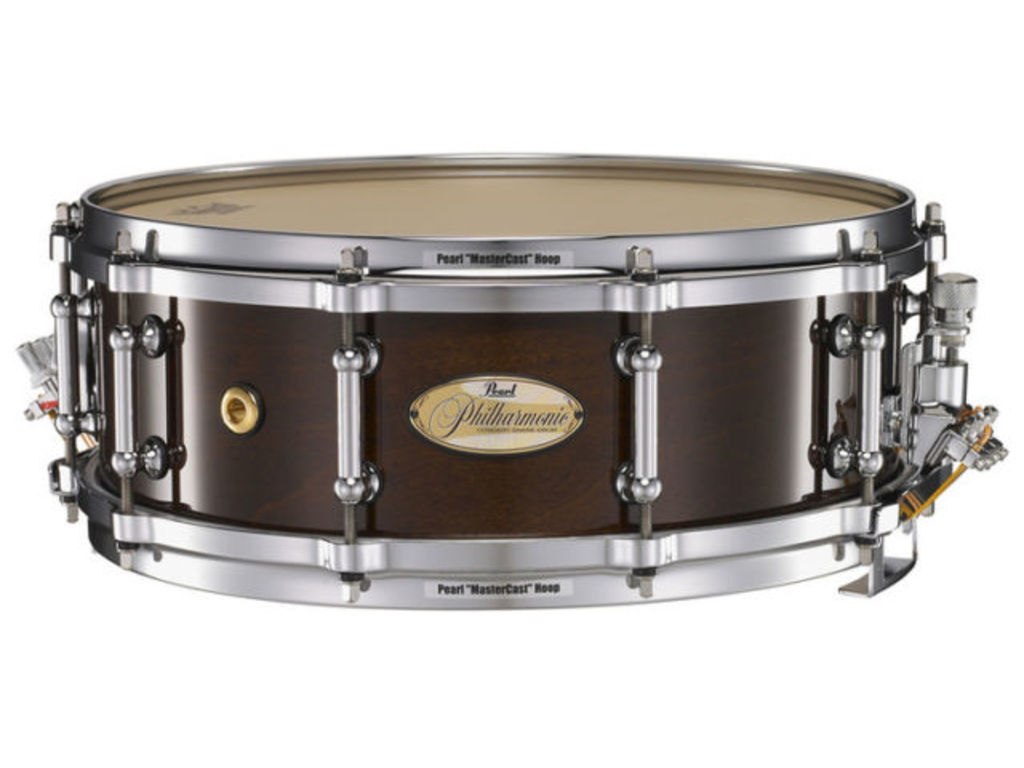 "Snaredrum Pearl PHM1450, 14"" x 5"", Philharmonic SD, 1 ply maple shell, met Silent Strainer"