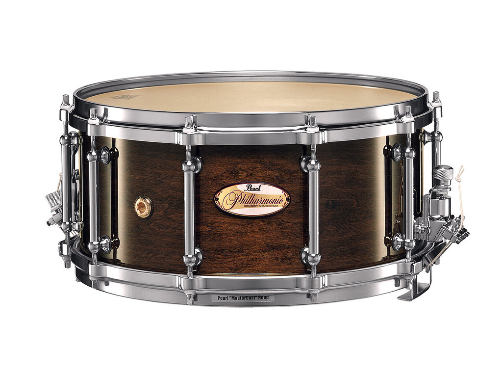 "Snaredrum Pearl PHM1465, 14"" x 6.5"", Philharmonic SD, 1 ply maple shell, met Silent Strainer"