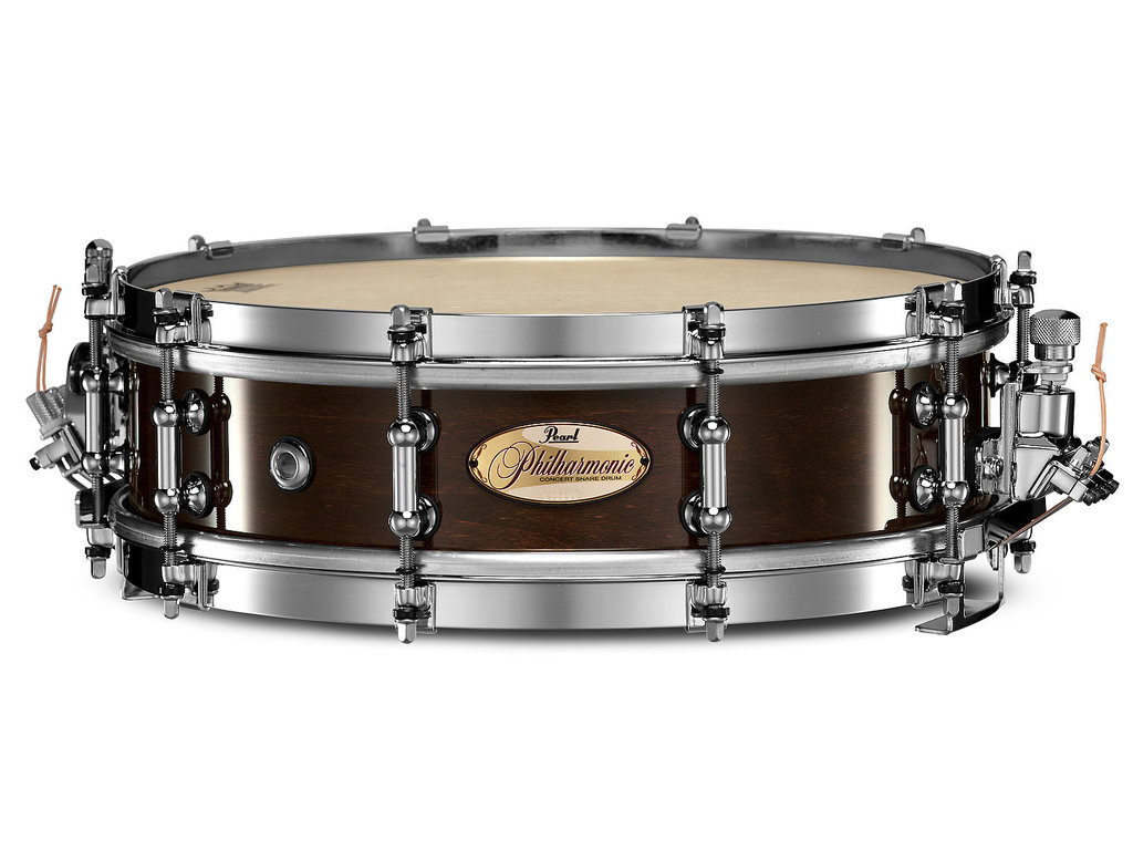 "Snaredrum Pearl PHP1340, 13"" x 4"", Philharmonic SD, 6 ply maple shell, met Silent Strainer"