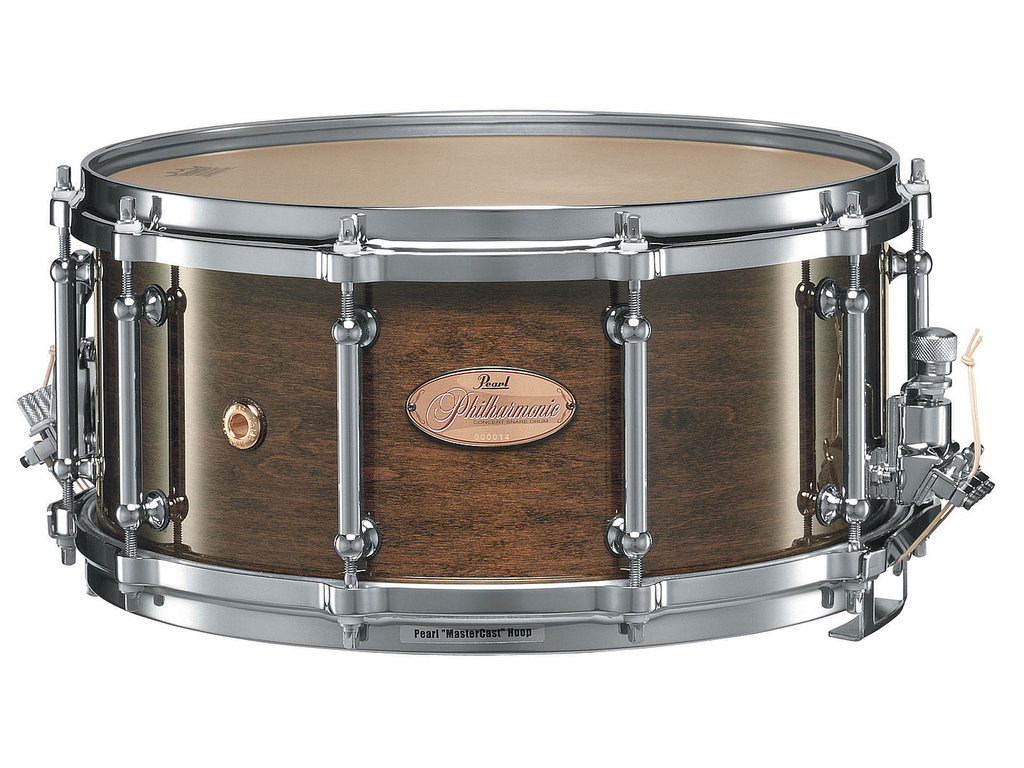 "Snaredrum Pearl PHP1465 14"" x 6.5"" Philharmonic SD, 6 ply maple shell, met Silent Strainer"