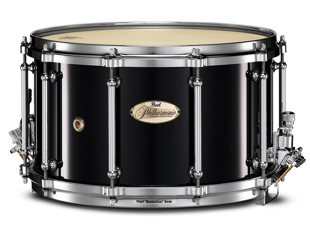 "Snaredrum Pearl PHP1480, 14"" x 8"", Philharmonic SD, 6 ply maple shell, met Silent Strainer"