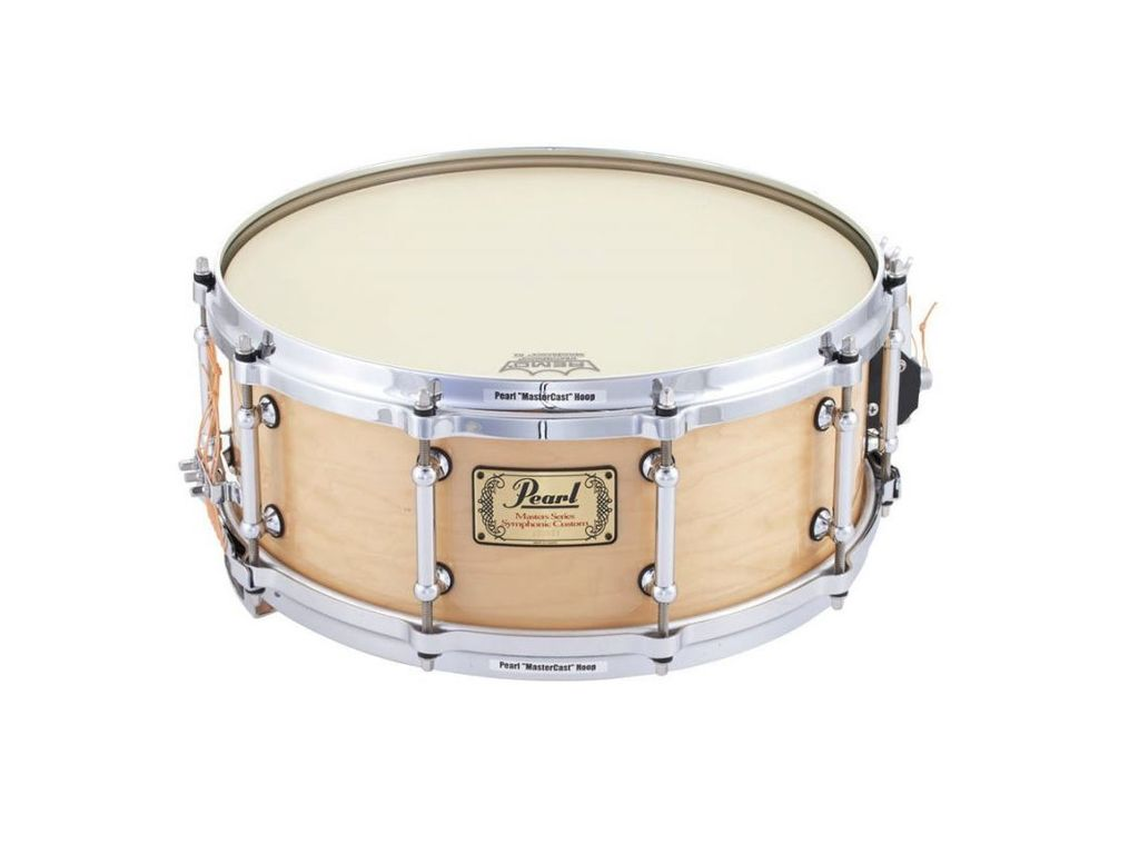 "Snaredrum Pearl SYP1455 14"" x 5.5"", Symphonic SD, 6 ply maple shell, met Multi-timbre strainer"