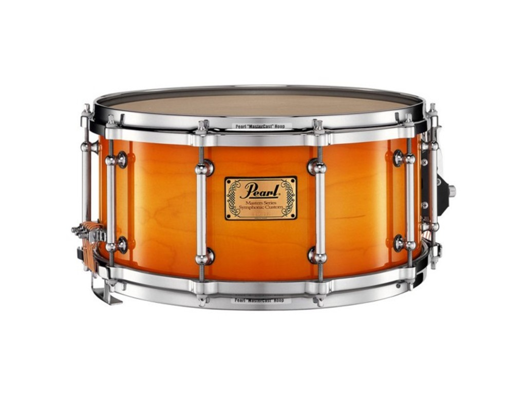 "Snaredrum Pearl SYP1465, 14"" x 6.5"", Symphonic SD, 6 ply maple shell w/Multi-timbre strainer Antique sunburst"