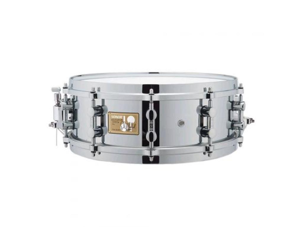 "Snaredrum Sonor SSD 11 1405 PR, Signature Phil Rudd brass shell, chrome 14"" x 5"""