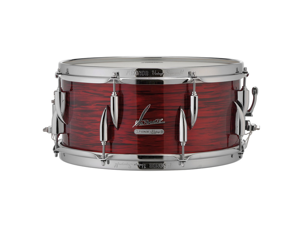 "Snaredrum Sonor VT 15/16 1465 SDW, Vintage Series, Red Oyster, 14"" x 6.5"""