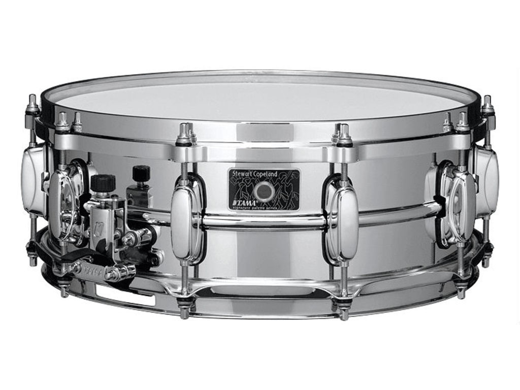 "Snaredrum Tama, SC145, Stewart Copeland brass/chrome plated 1.5mm, 14"" x 5"""