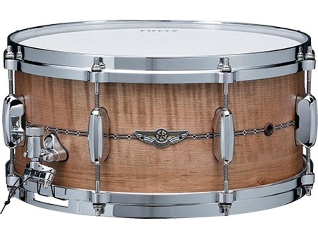 "Snaredrum Tama Star Limited Edition TLCM1465S-OBC, Solid Curly Maple Shell, 14""x6,5"",  Oiled Brown Curly Maple"