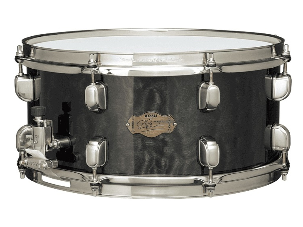 "Snaredrum Tama SP1465H, Simon Phillips, ""The Monarch"", figured maple, bubinga, maple, 14"" x 6,5"""