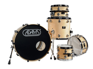 shellset Adams 8000 Dpresent 22 Studio Maple Hout Chrome Hardware incl.New Style Rimsyteem Naturel Gloss