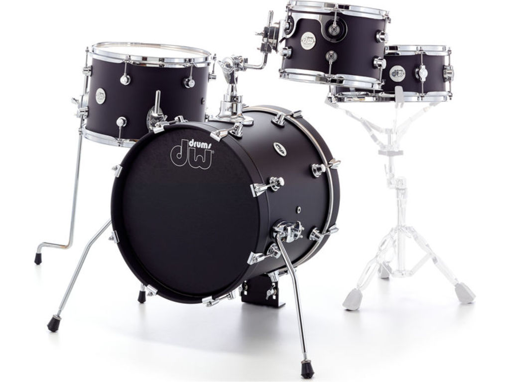 "Shell Set DW Design 16"" Mini Pro 4-delig Black Satin, 16"", 10"", 13"", 12"""