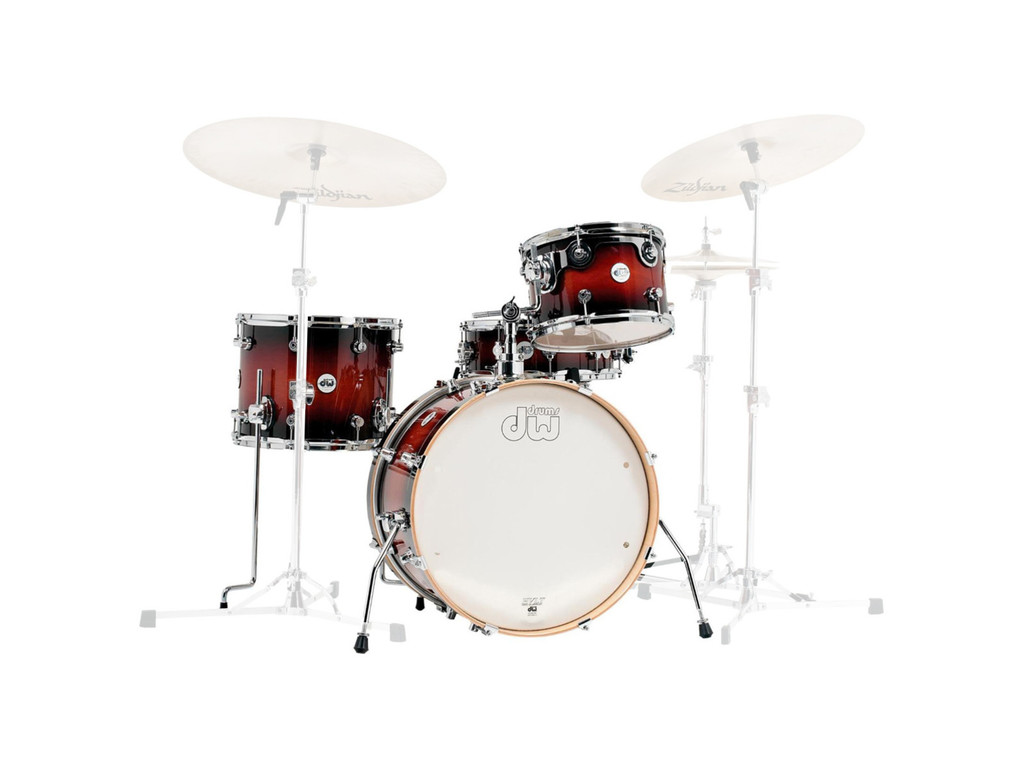 "Shell Set DW Design 20"" Frequent Flyer 4-delig Tobacco Burst, 20"", 12"", 14"", 14"""