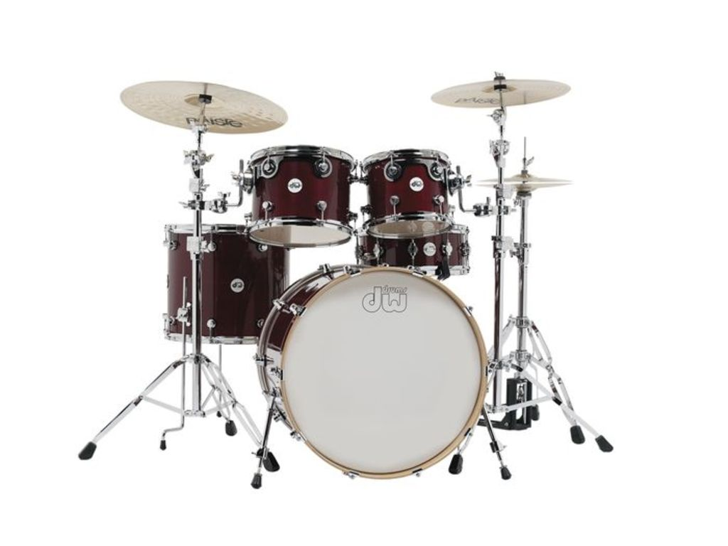 "Shell Set DW Design 22"" Frequent Flyer 5-delig Cherry Stain, 22"", 10"", 12"", 16"", 14"""
