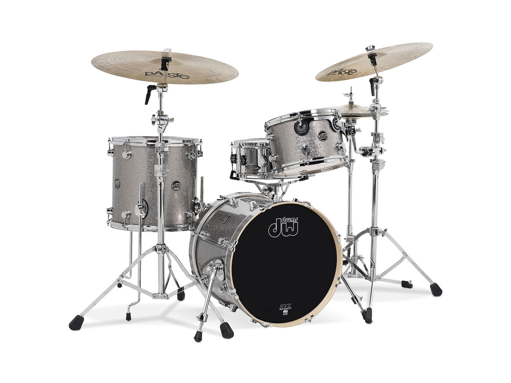 "Shell Set DW Performance Finish Ply / Satin Oil 18"" 3-delig Titanium Sparkle, 18"", 12"", 14"""
