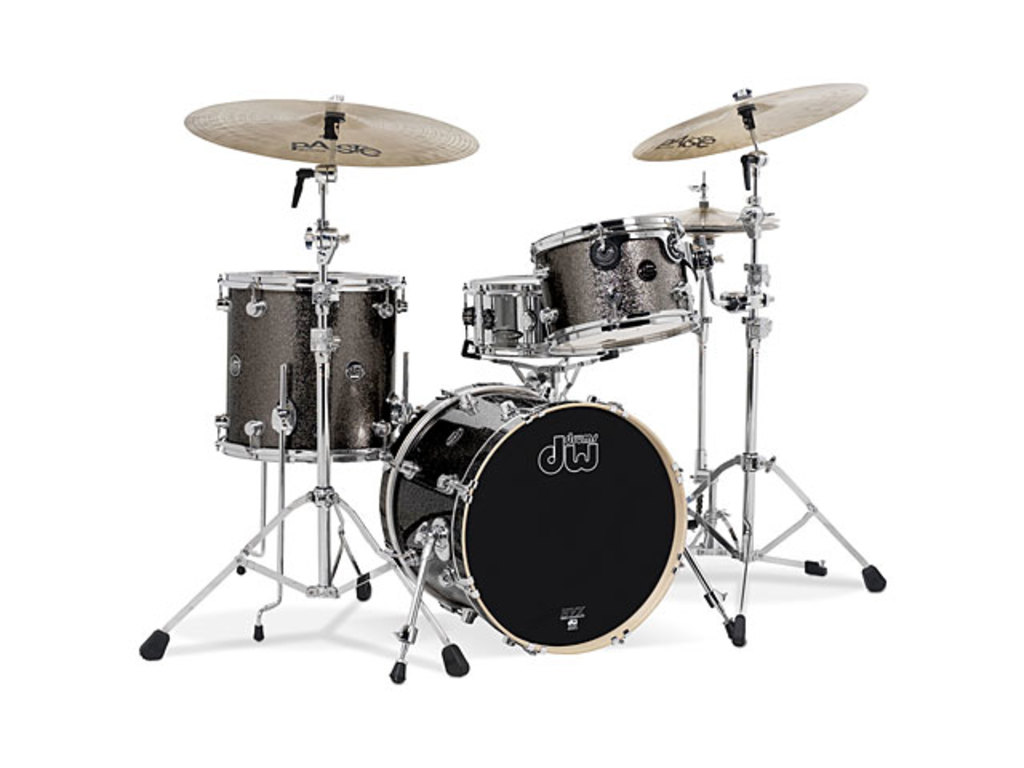 "Shell Set DW Performance Finish Ply / Satin Oil 18"" 3-delig Pewter Sparkle, 18"", 12"", 14"""