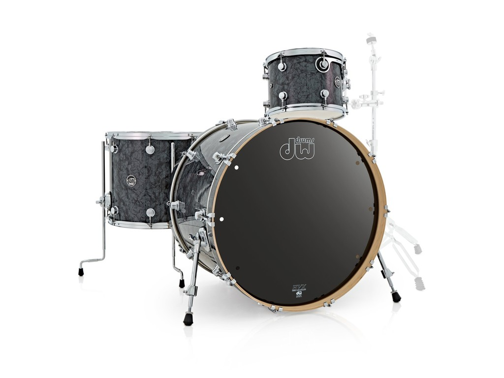 "Shell Set DW Performance Finish Ply / Satin Oil 20"" 3-delig Black Diamond, 20"", 12"", 14"""