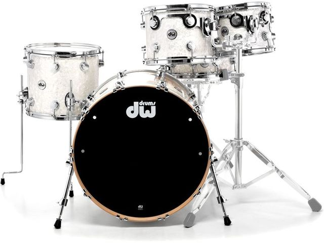 "Shell Set DW Performance Finish Ply / Satin Oil 20"" 4-delig White Marine Pearl, 20"", 10"", 12"", 14"""