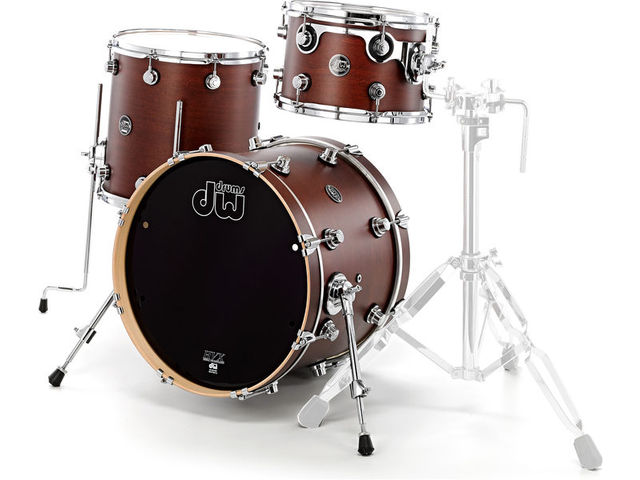 "Shell Set DW Performance Finish Ply / Satin Oil 22"" 3-delig Tobacco, 22"", 12"", 16"""