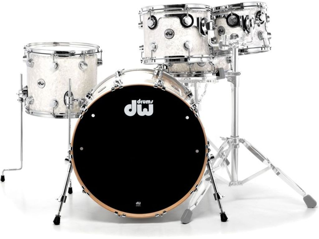 "Shell Set DW Performance Finish Ply / Satin Oil 22"" 4-delig White Marine Pearl, 22"", 10"", 12"", 16"""