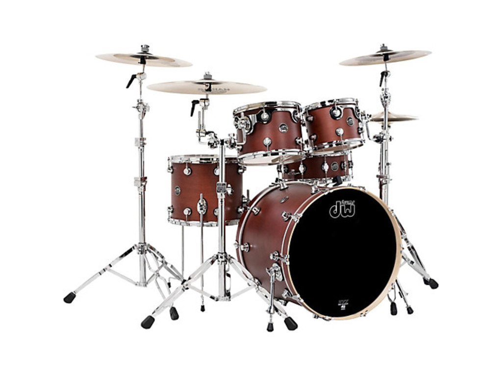 "Shell Set DW Performance Finish Ply / Satin Oil 22"" 4-delig Tobacco, 22"", 10"", 12"", 16"""