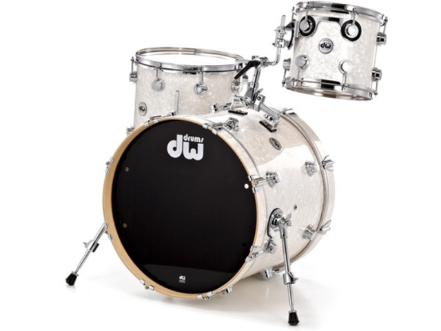 "Shell Set DW Performance Finish Ply / Satin Oil 24"" 3-delig White Marine Pearl, 24"", 12"", 16"""